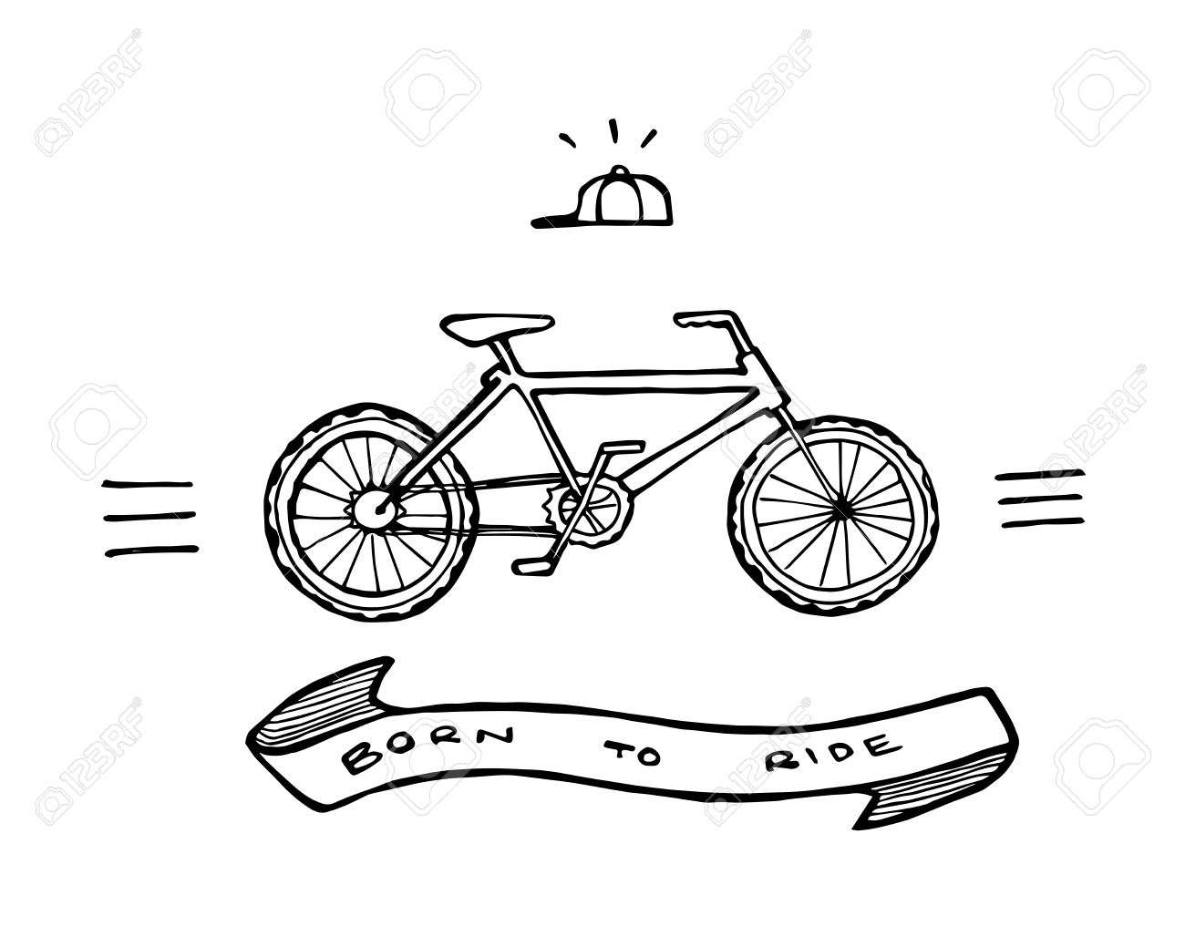 Hand Drawn Vector Illustration Or Drawing Of A Retro Old School ...