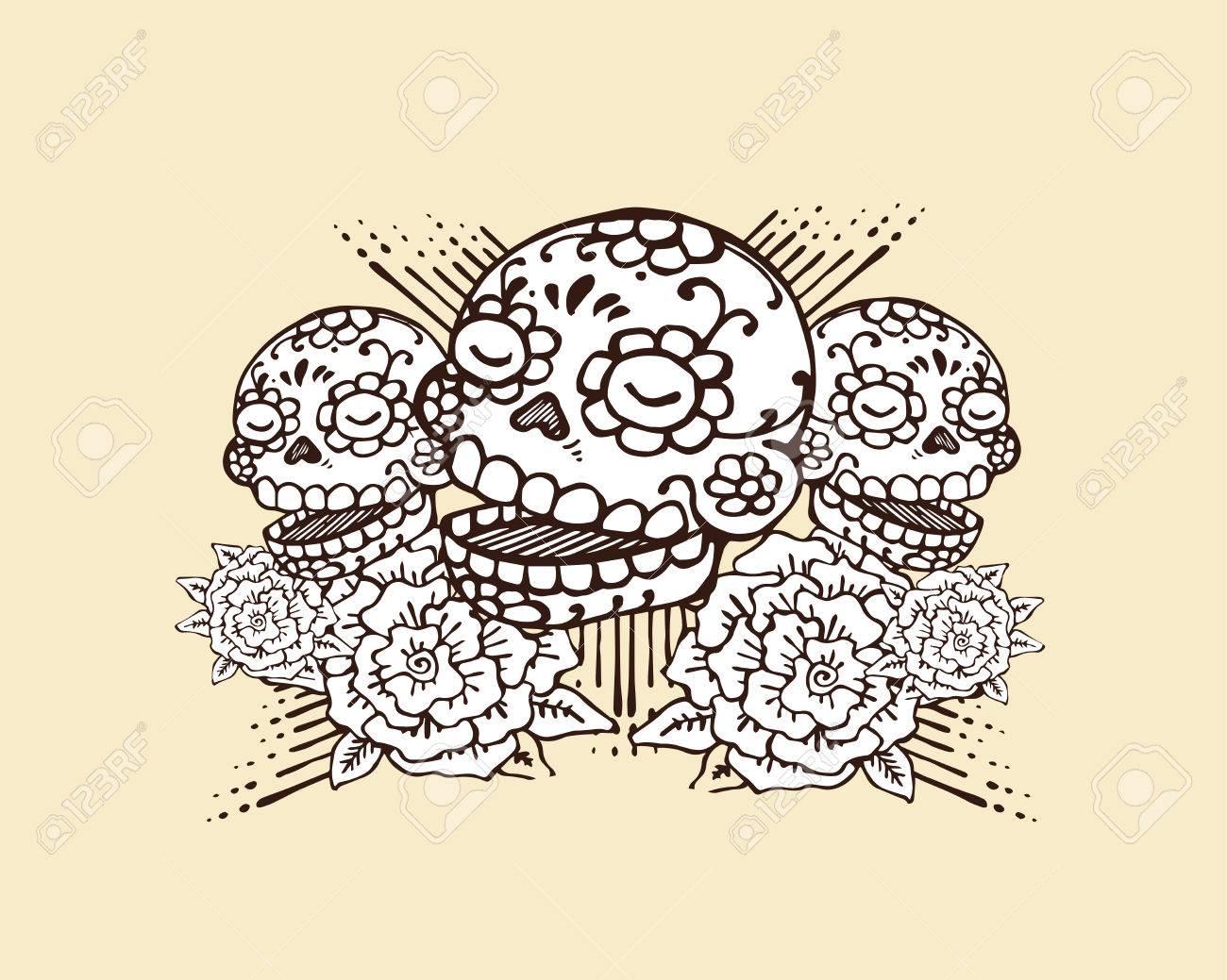 Dessin Representant La Mort le jour dessinés à la main vecteur illustration ou un dessin de