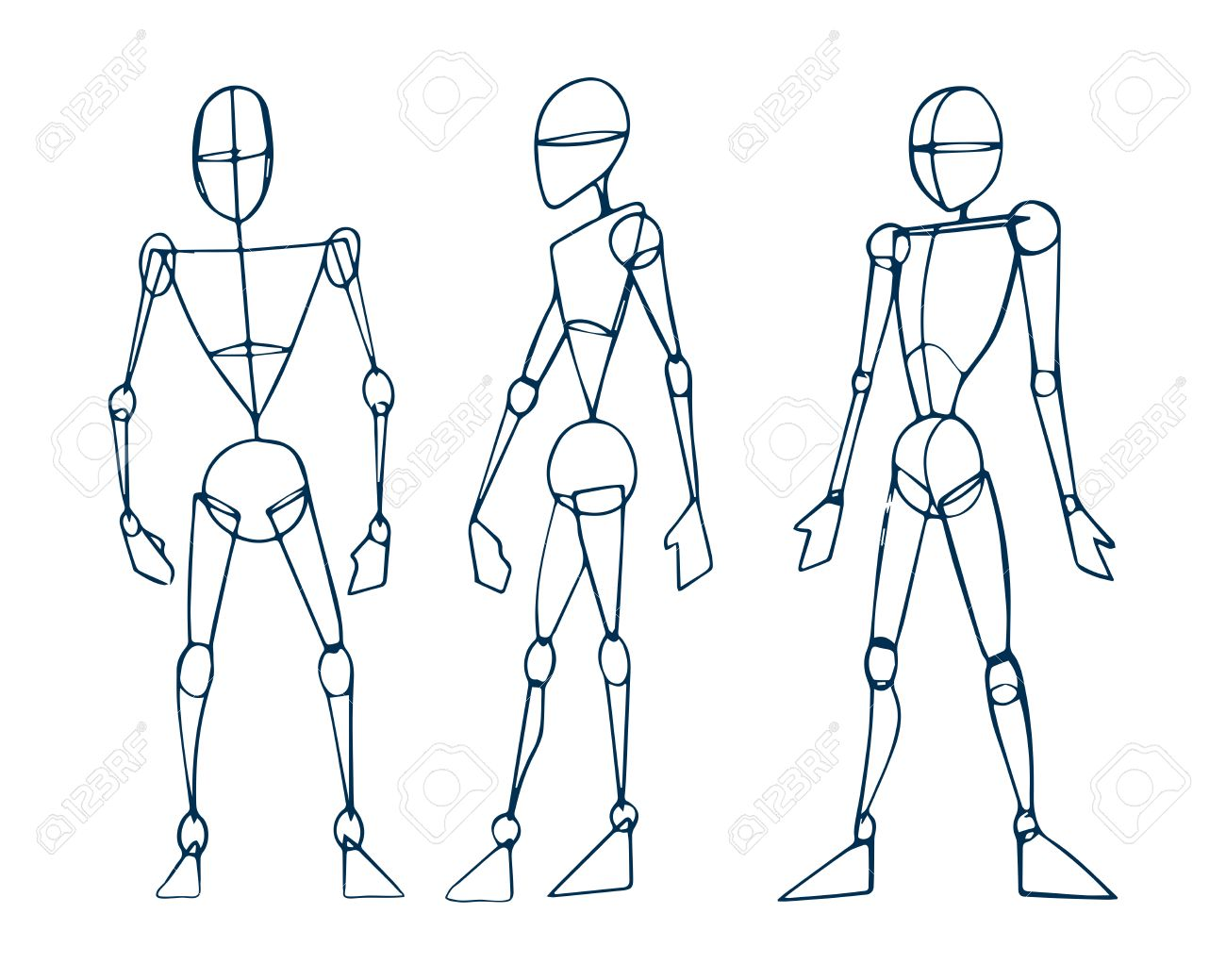 Hand Drawn Vector Illustration Or Drawing Of A Human Figure Sketch Royalty Free Cliparts Vectors And Stock Illustration Image 35628326