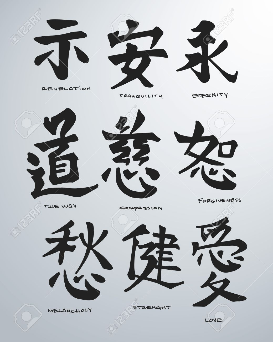 Hand drawn vector illustration or drawing of some japanese symbols hand drawn vector illustration or drawing of some japanese symbols stock vector 35615240 buycottarizona