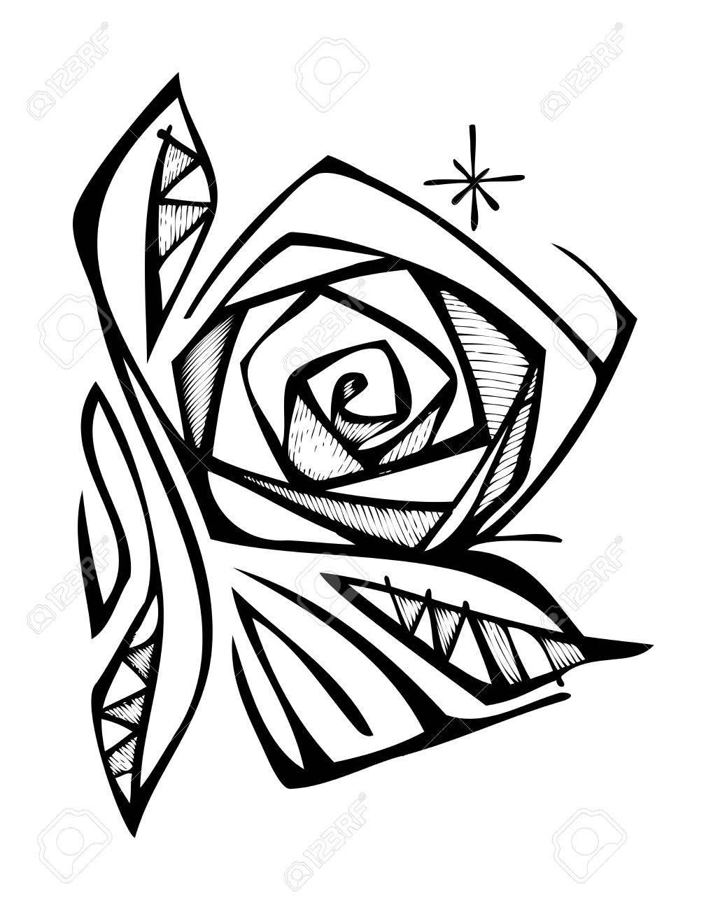 Illustration Vectorielle Dessines A La Main Ou Dessin D Une Fleur De