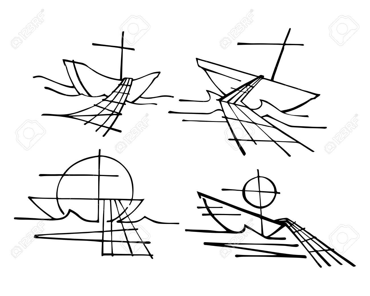 Hand Drawn Vector Illustration Or Drawing Of The Religious Symbol