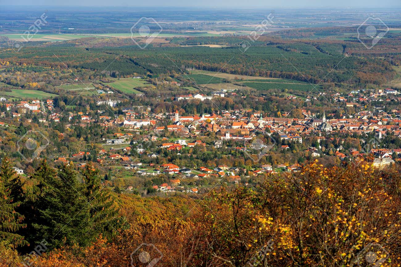 View from Óház kilátó on Kőszeg hills Hungary view of the city above - 158631258