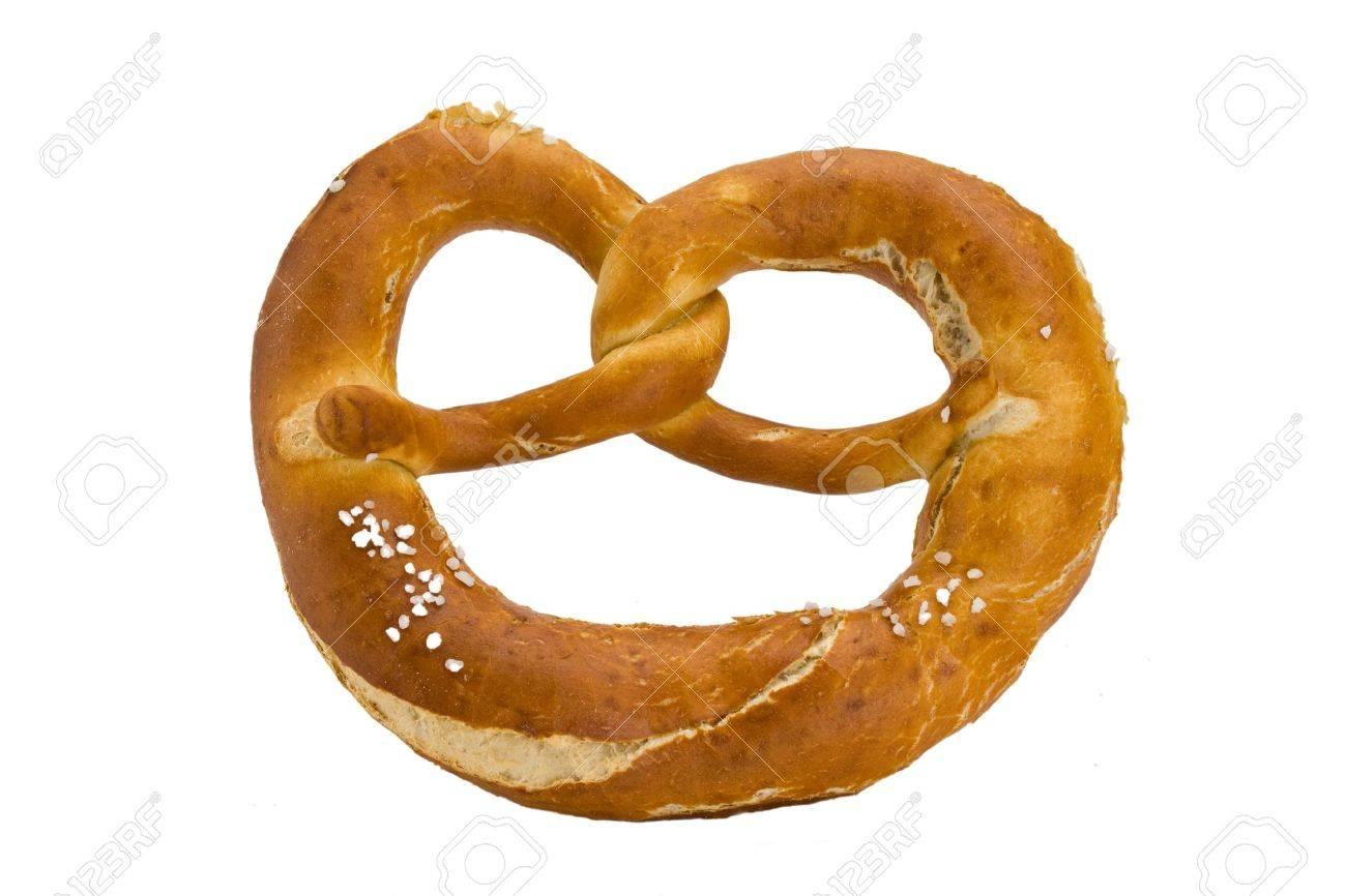 bavarian pretzel isolated on white background Stock Photo - 3832499
