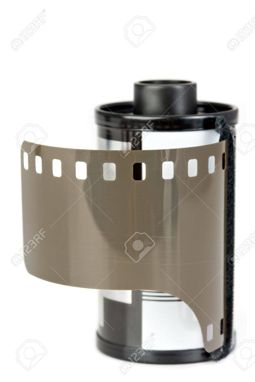 detail of a 35mm film with cartridge Stock Photo - 3869705