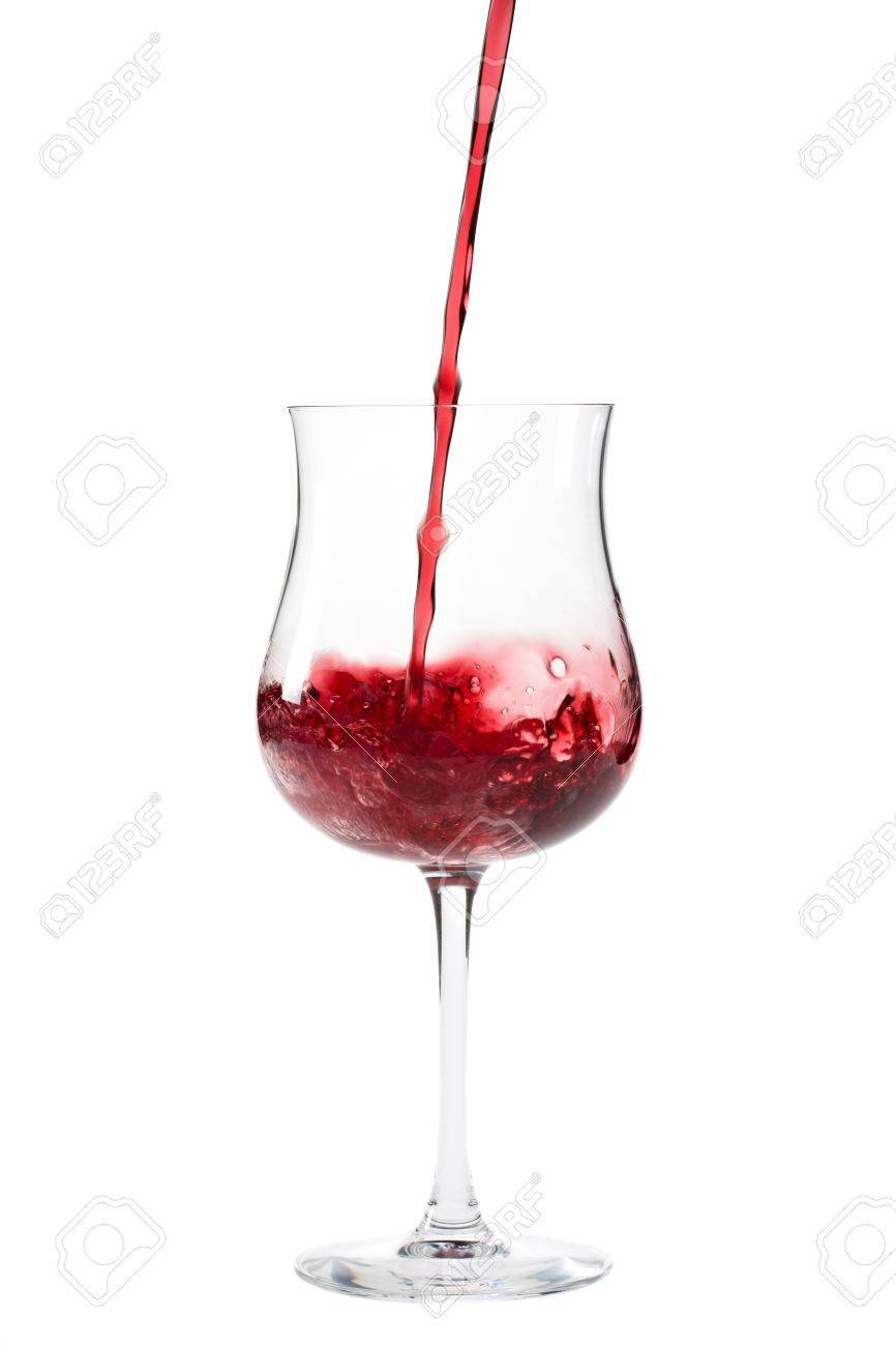 red wine splashing in a glass Stock Photo - 4504637