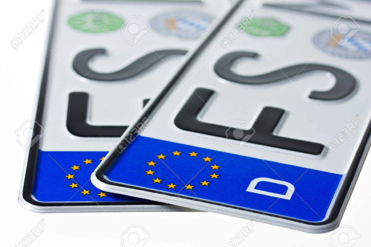 german license plates isolated on white background Stock Photo - 4536319