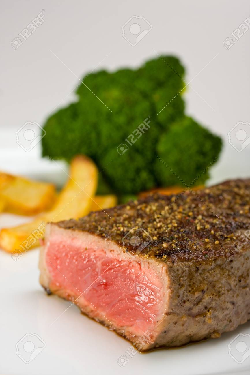 grilled steak on a plate with fries Stock Photo - 5156520