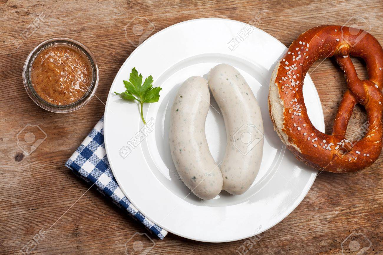 pair of bavarian white sausages Stock Photo - 11519631