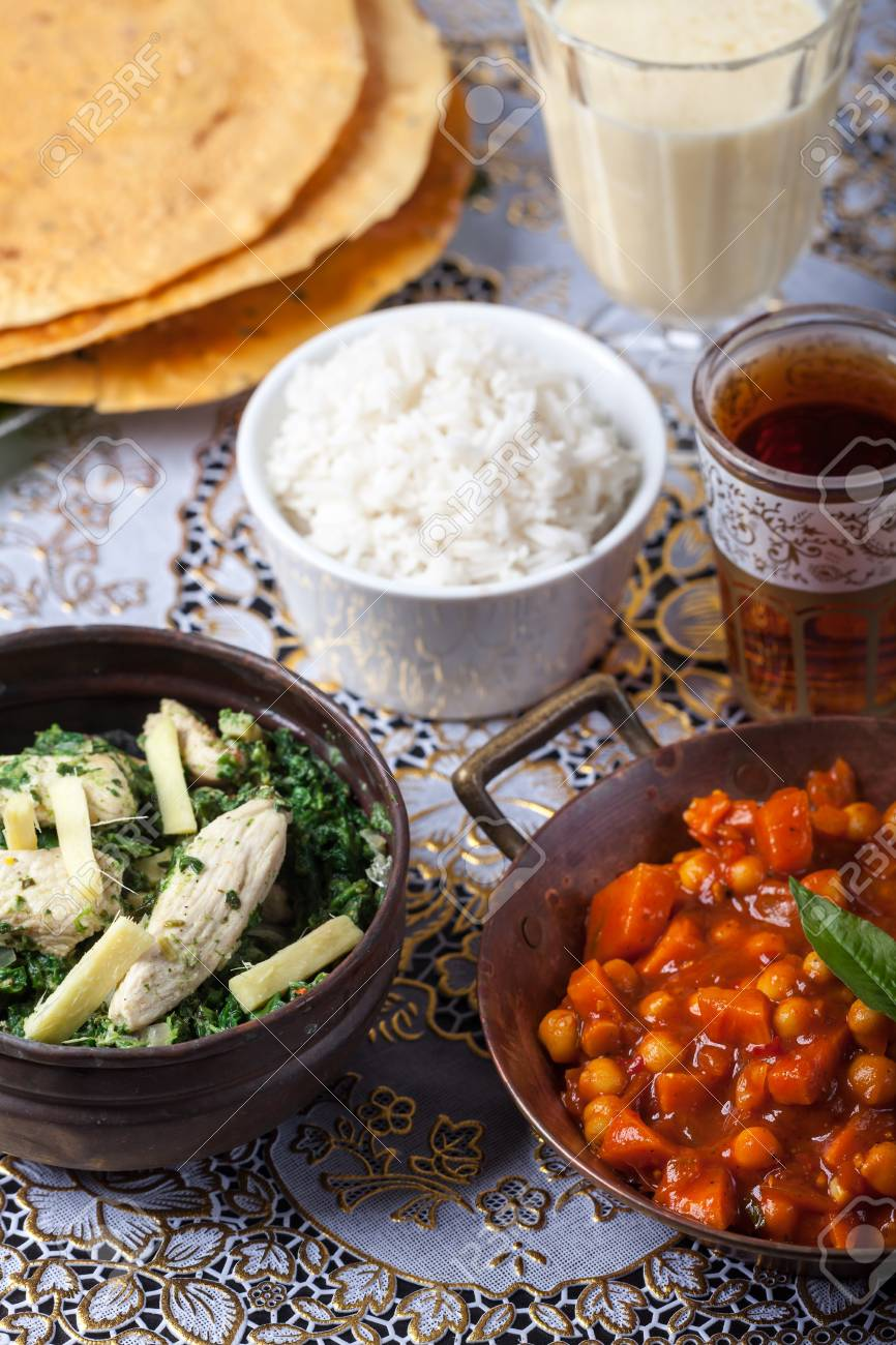 indian dishes with rice Stock Photo - 15985829