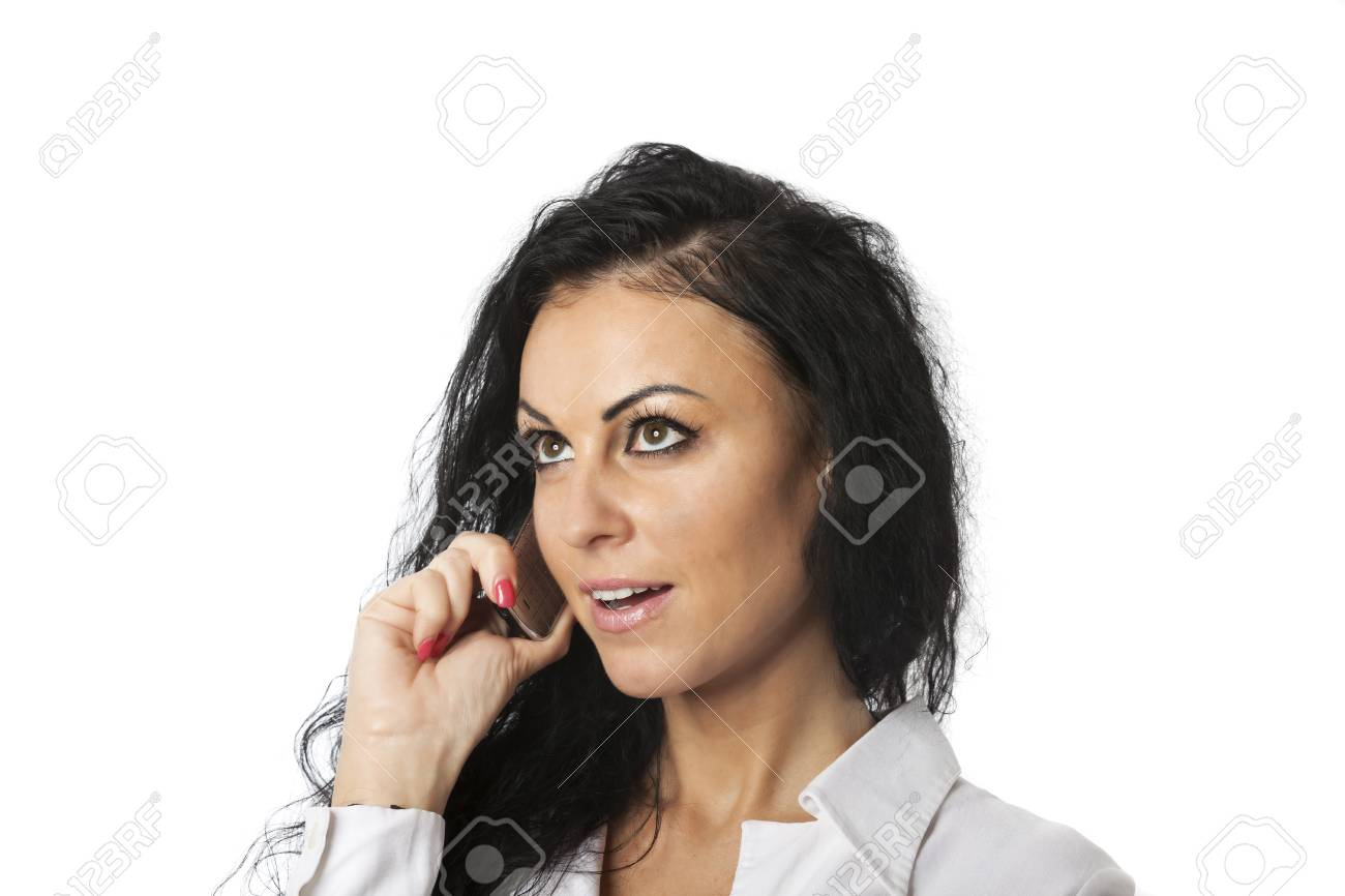 young woman on her cell phone Stock Photo - 17137005