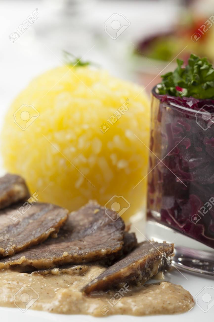 bavarian sauerbraten, a marinated beef speciality Stock Photo - 17318201
