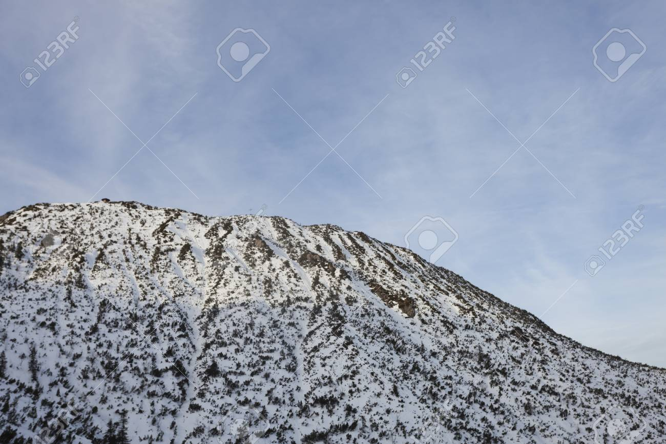 herzogstand peak in bavaria on a winter day Stock Photo - 17318210
