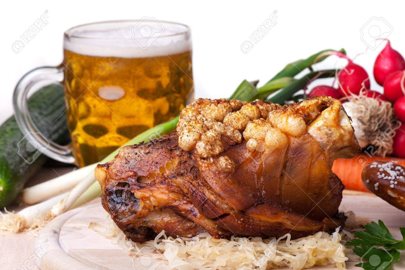 bavarian knuckle of pork Stock Photo - 19087086