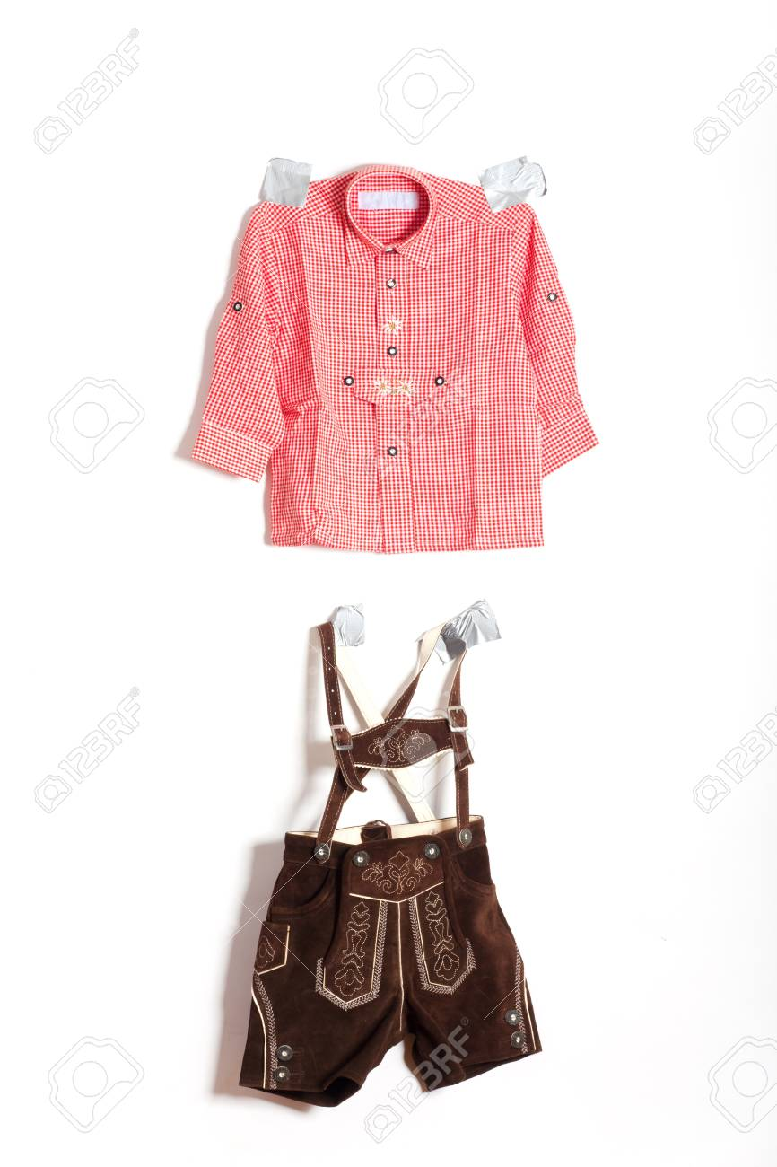 bavarian costume pinned to the wall Stock Photo - 19385111