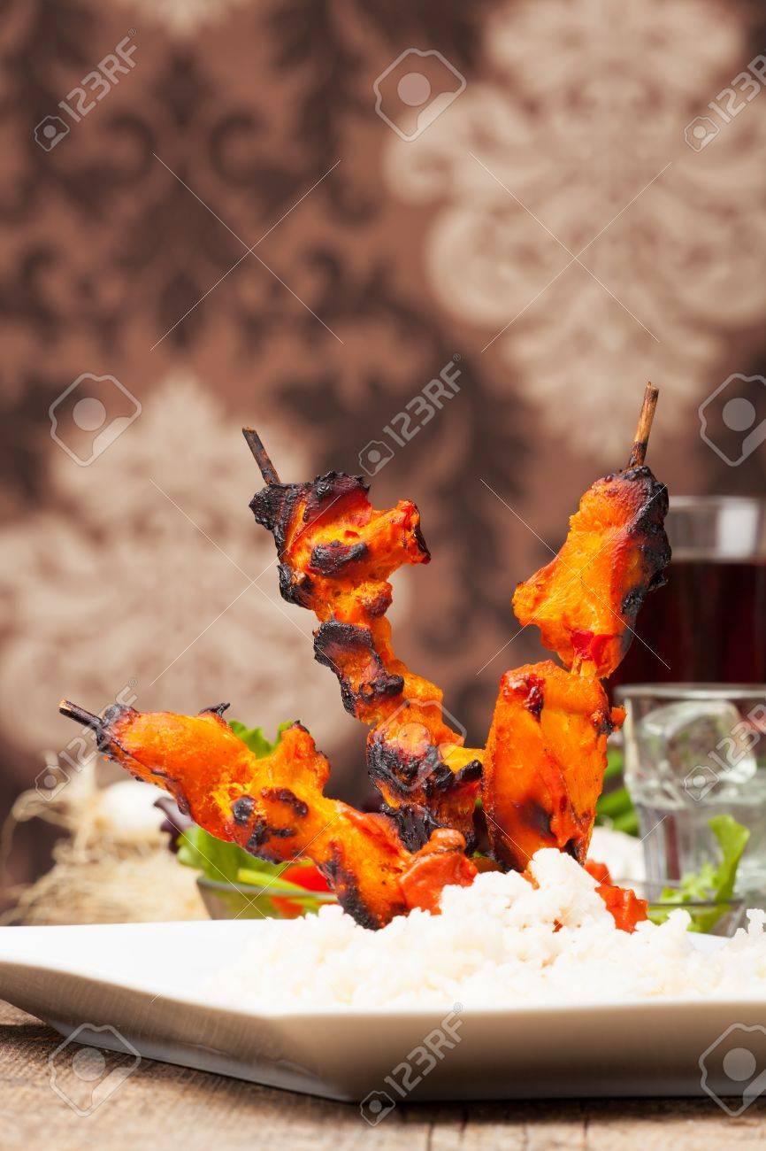 grilled indian tandoori chicken Stock Photo - 19629385