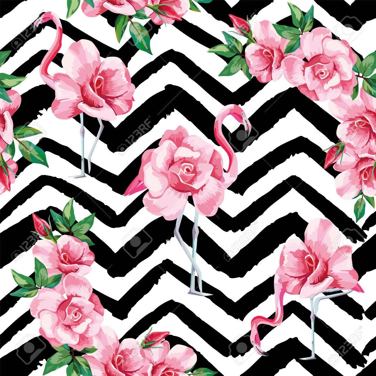 Image De Plage D Un Fond D Ecran Avec Un Beau Flamant Rose Tropicale