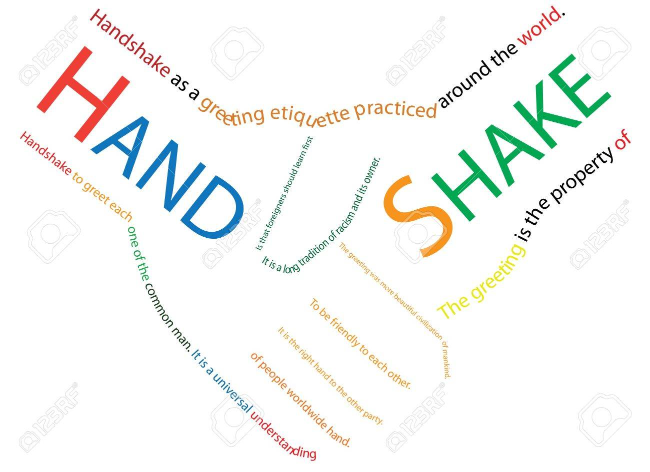Congratulations shake hands business people Stock Photo - 9816741