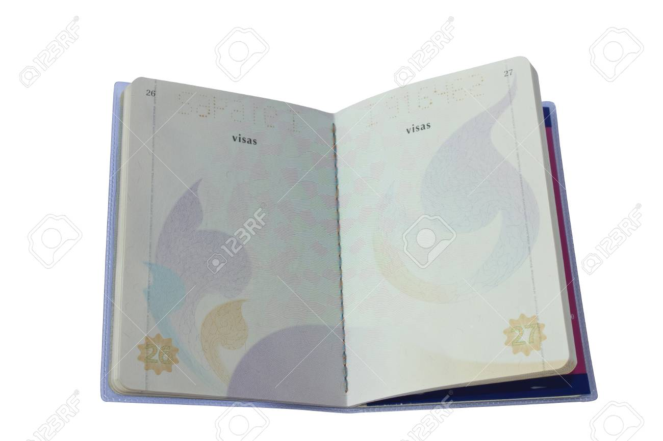 Thailand Official Passport Isolated on White Blackground. Stock Photo - 10829808