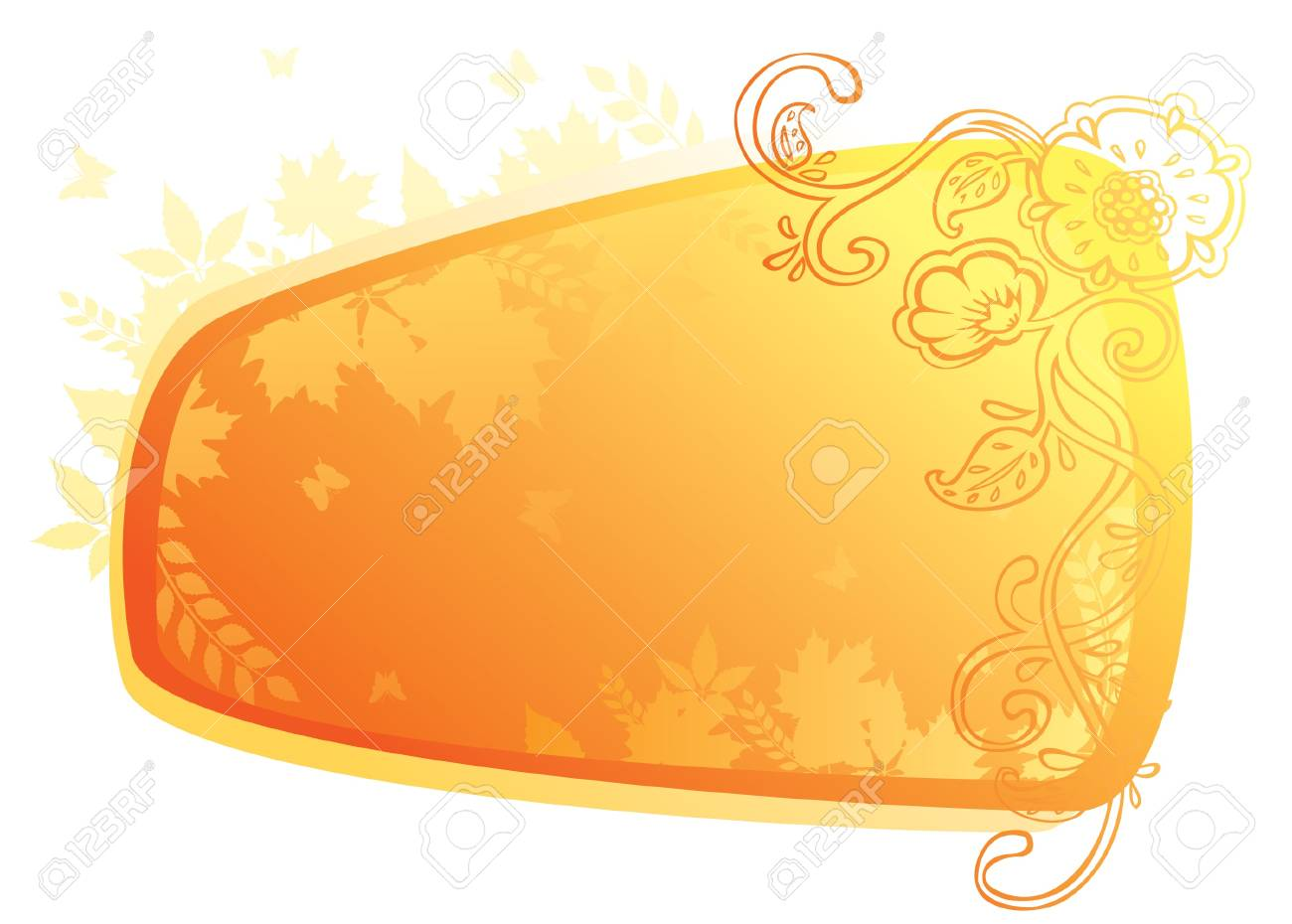 Vector illustration of Autumn leafs back Stock Vector - 14864079