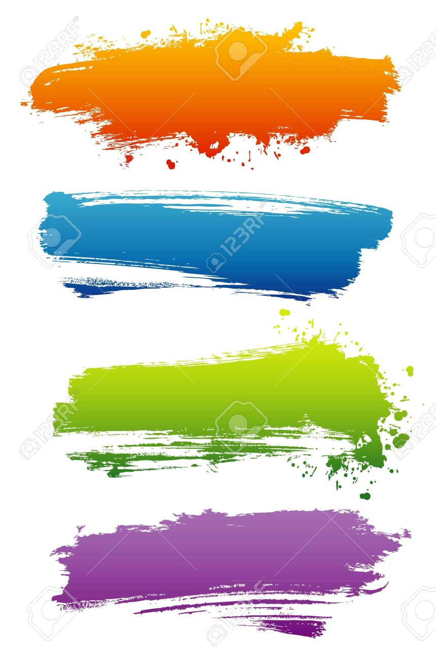 Vector illustration of Splash banners set - 14864996