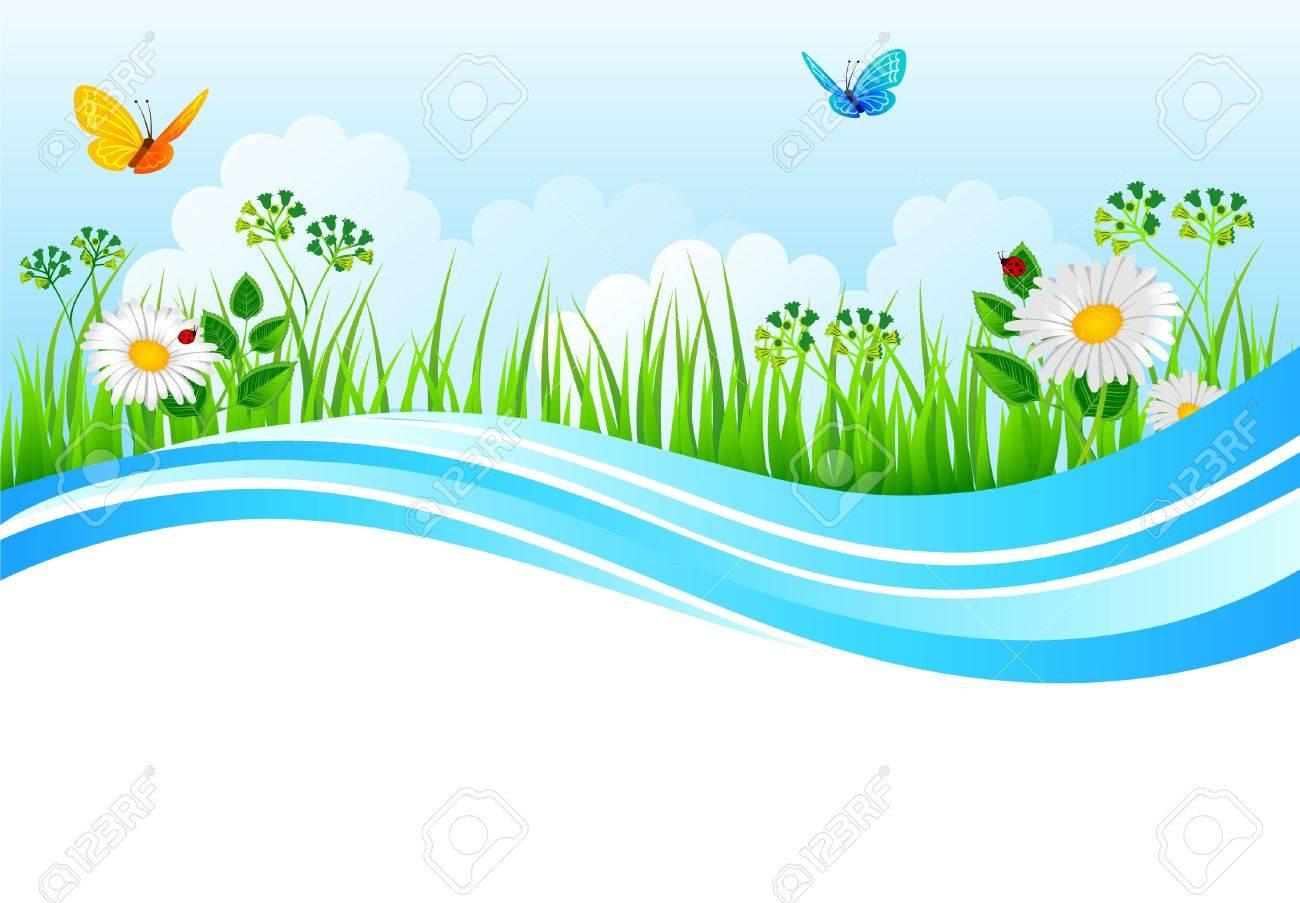Vector illustration of Summer grass Stock Vector - 14864888