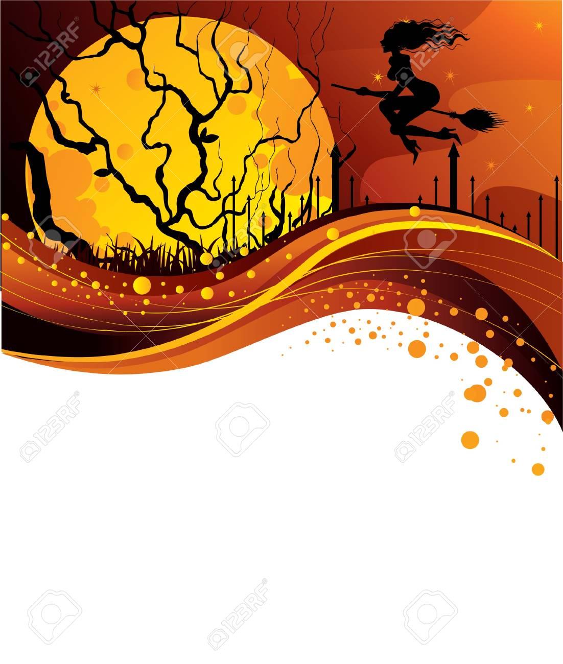 Halloween back Stock Vector - 14867296