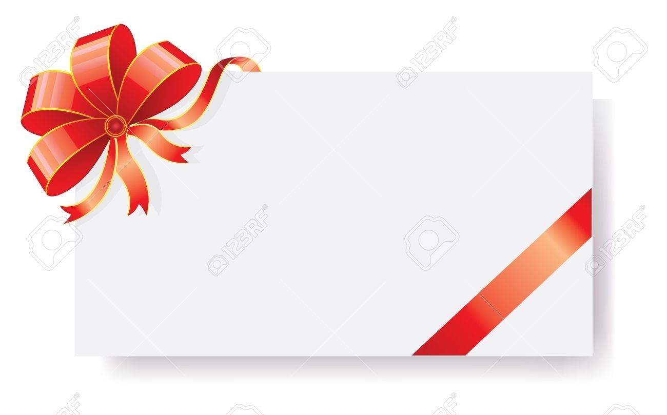 Vector illustration of card with ribbons Stock Vector - 14867302