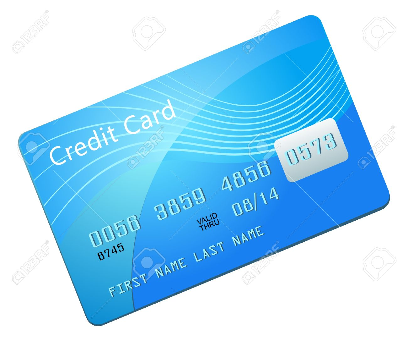 Vector Illustration Of Blue Credit Card Royalty Free Cliparts ...