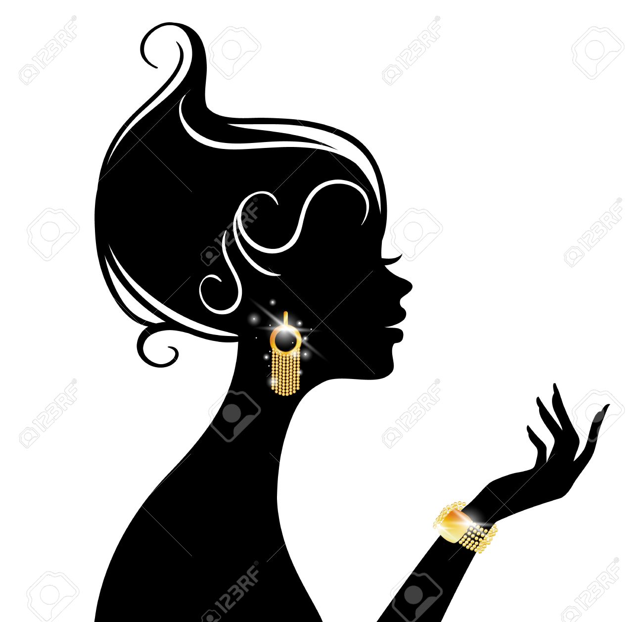 Vector Illustration Of Beauty Woman Royalty Free Cliparts, Vectors ...