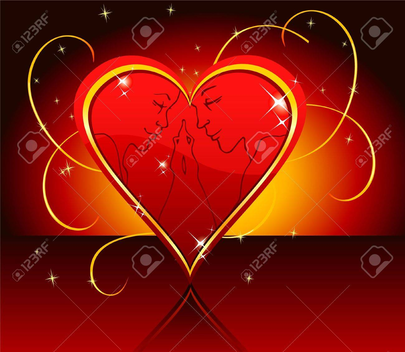 Vector illustration of Kissing couple Stock Vector - 15225397
