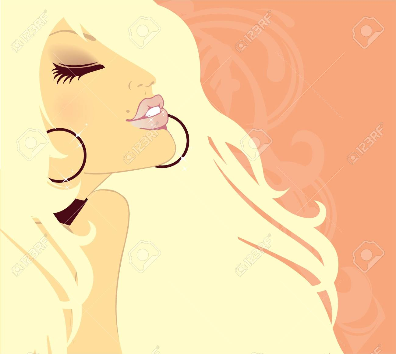 Vector illustration of Beauty floral woman Stock Vector - 15224586