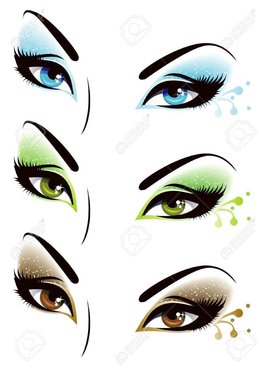 Set of eyes Stock Vector - 15224580