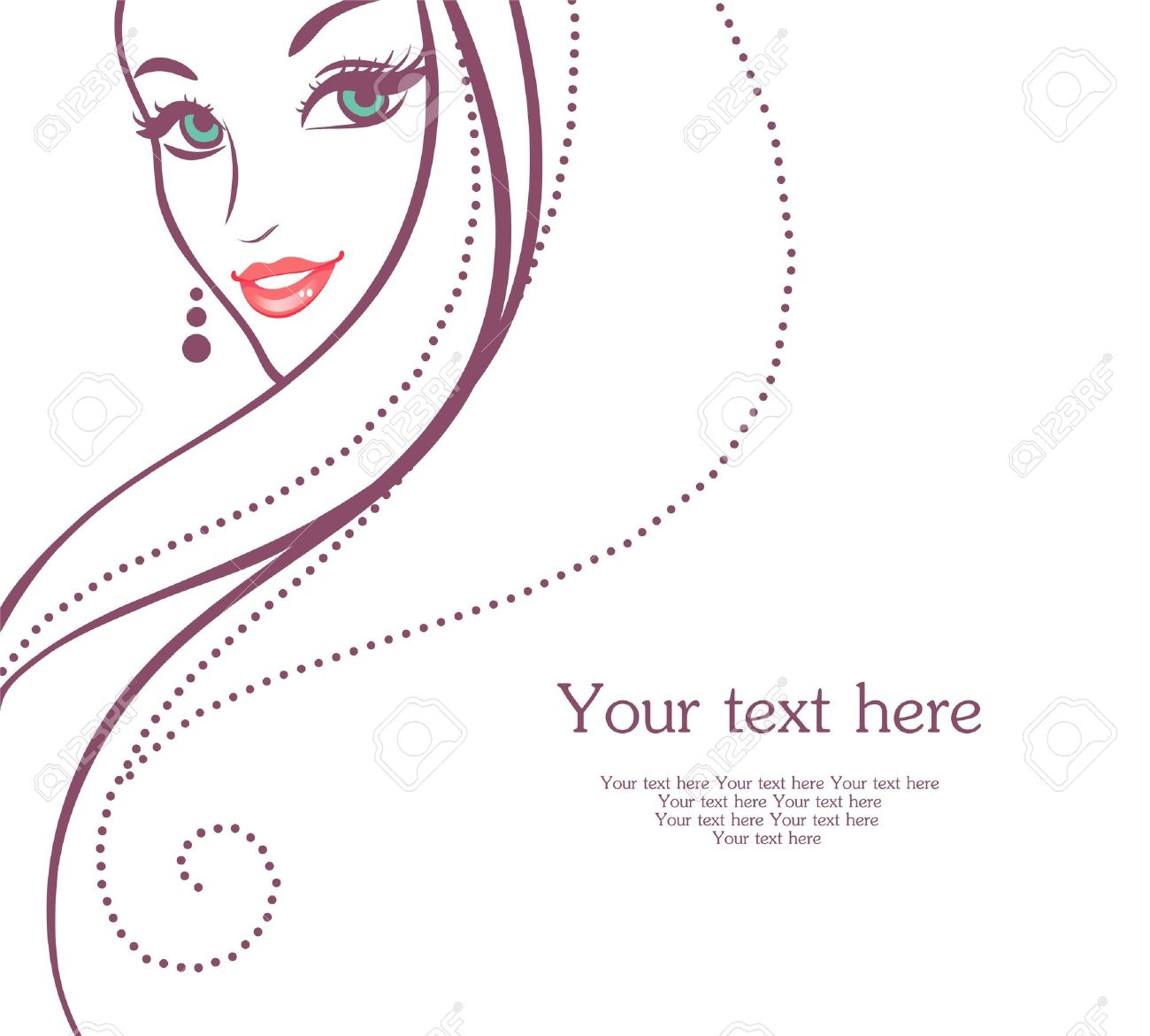 Vector illustration of Beauty woman pic Stock Vector - 15174946