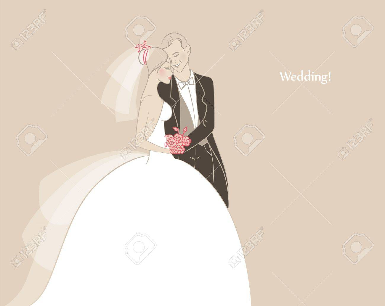 Vector illustration of Wedding Stock Vector - 15174948