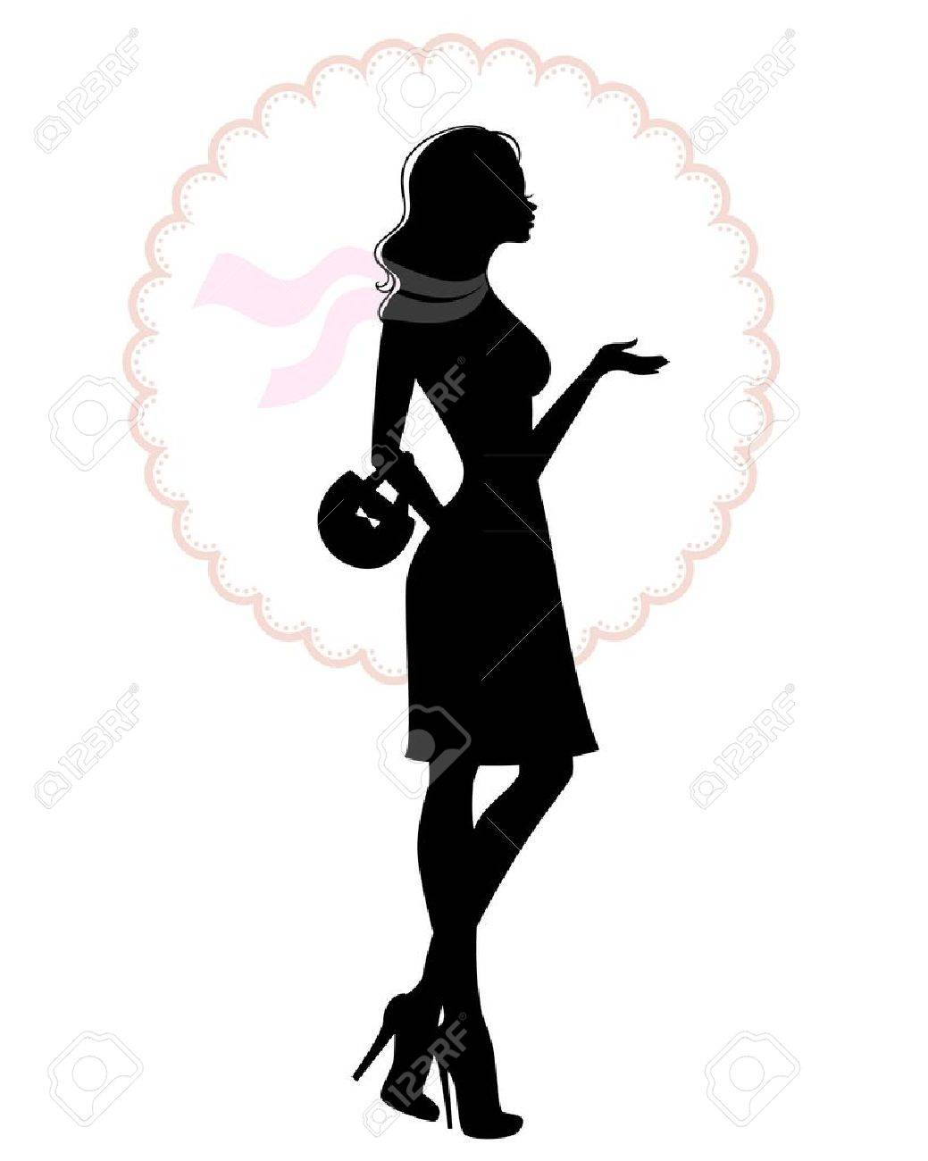 illustration of Woman's silhouette Stock Vector - 15567295
