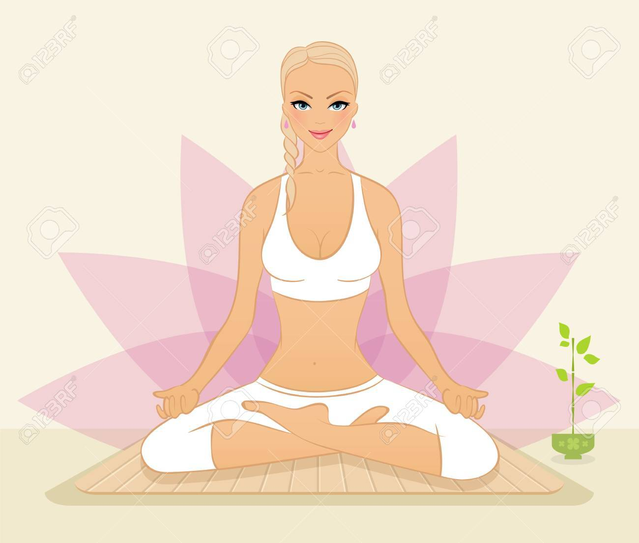 Vector illustration of Beautiful woman doing youga exercises Stock Vector - 15569440