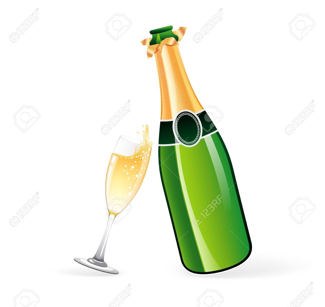 illustration of champagne bottle and glass royalty free cliparts rh 123rf com champagne bottle clipart champagne bottle clipart black and white