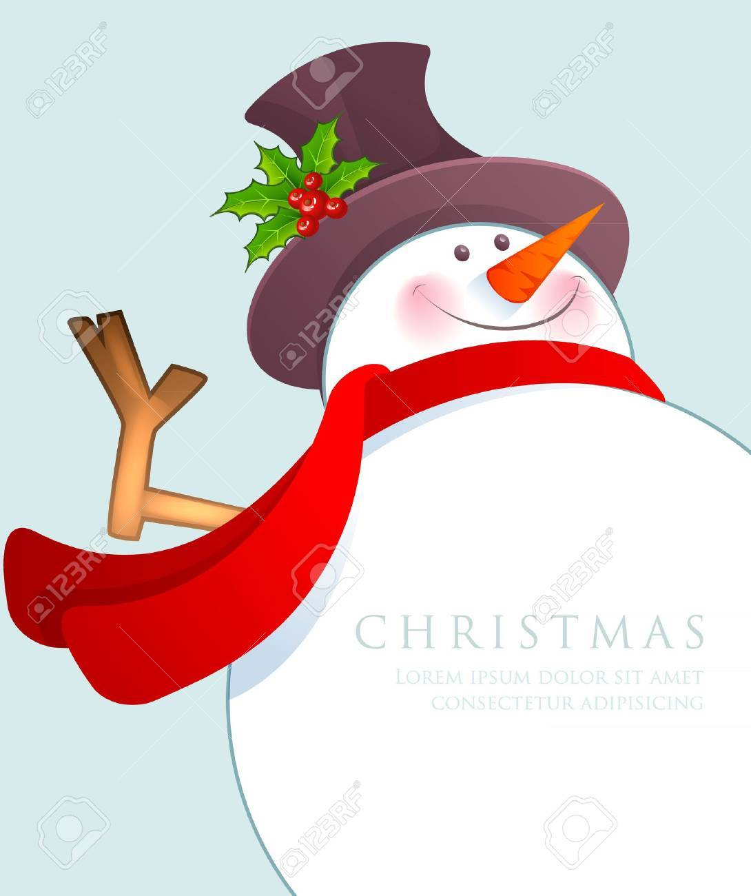 Vector illustration of Christmas Snowman Stock Vector - 15798522