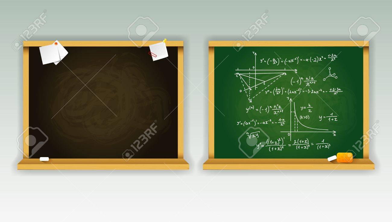 illustration of Black and green school boards Stock Vector - 15889924
