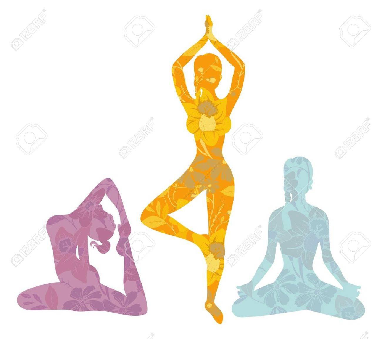 illustration of Beautiful woman doing yoga exercises Stock Vector - 16439758