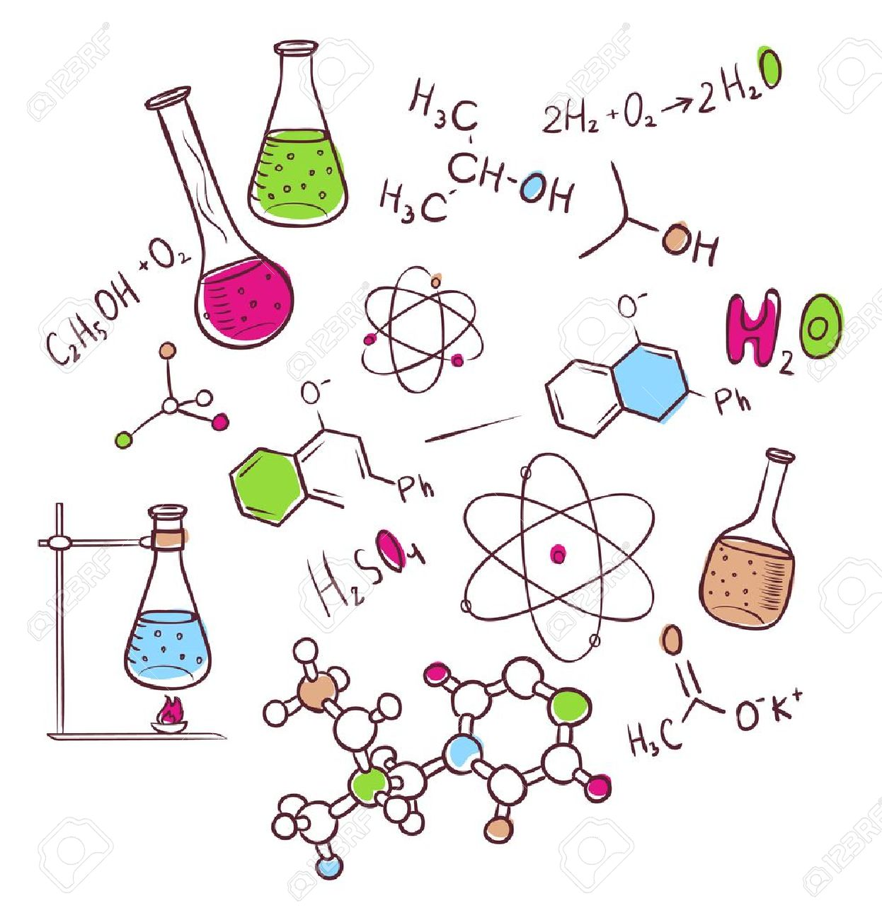 11,371 Organic Chemistry Stock Vector Illustration And Royalty ...