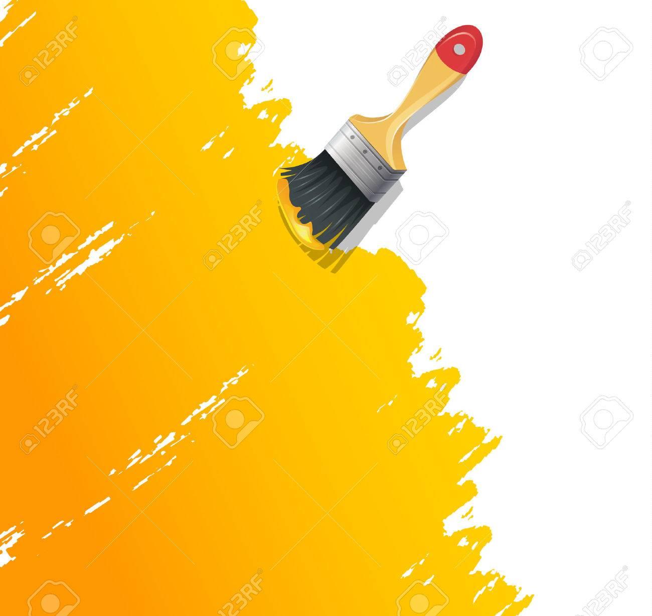 Vector illustration of Paint brush with splash - 26161096