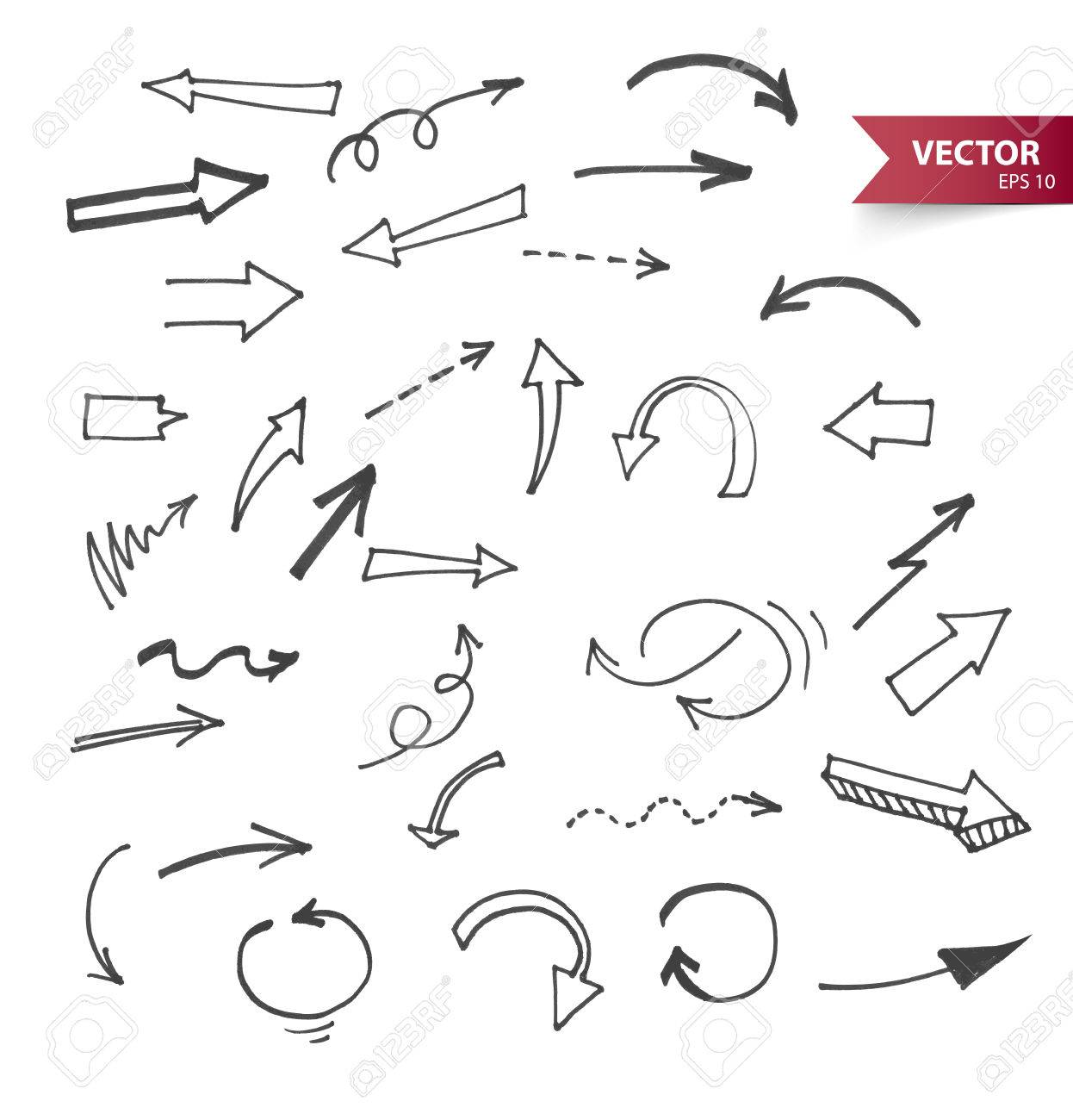 Illustration of Arrows - 27679345