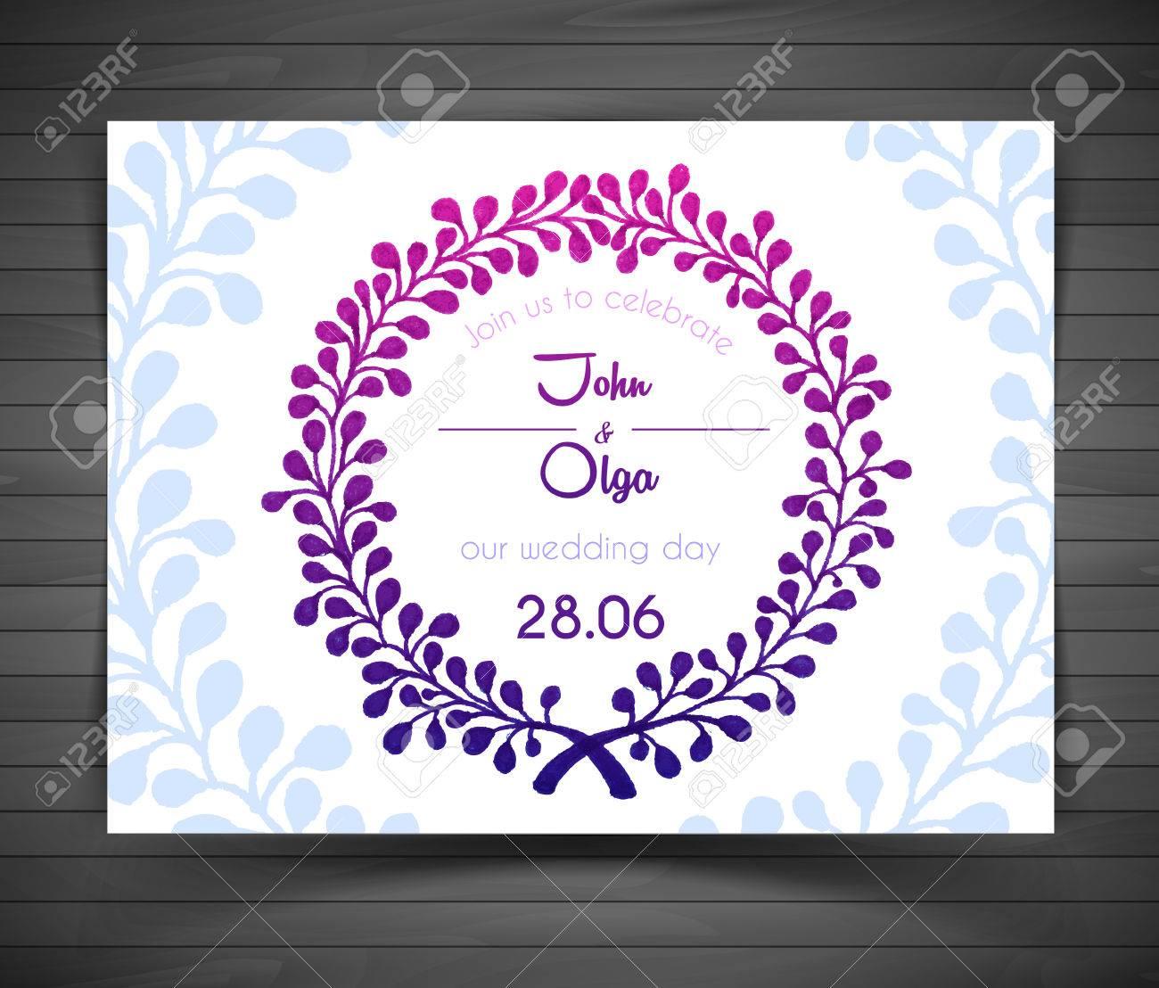 Illustration of Wedding card - 27679357
