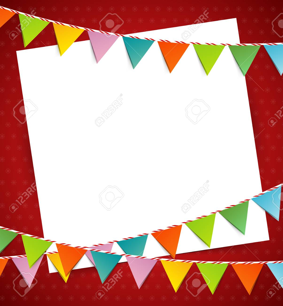 Bunting party color flags - 32009021