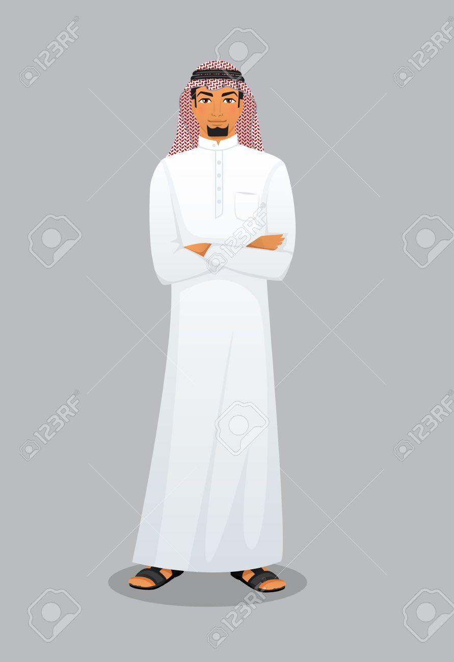 Vector illustration of Arabic man character image - 36233847