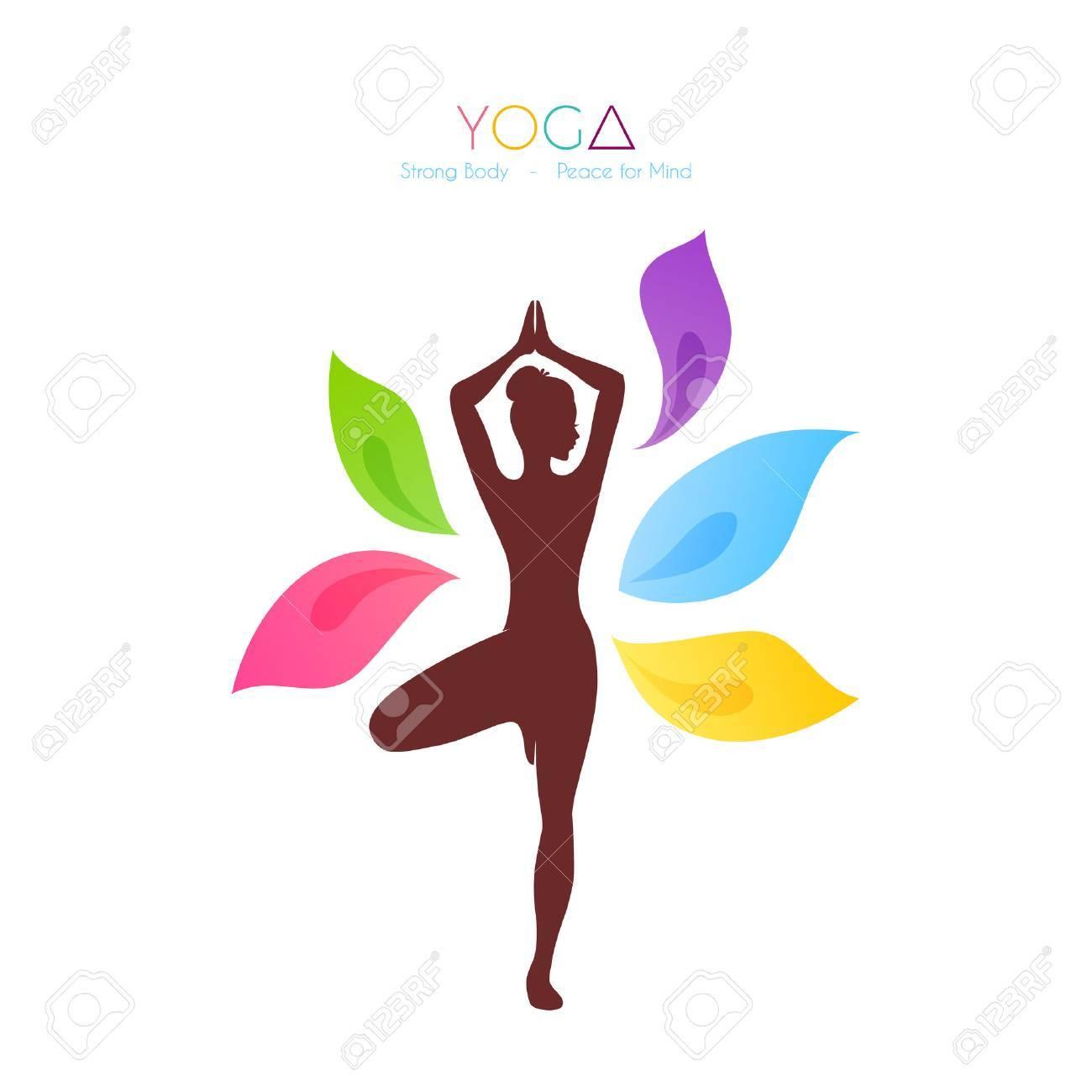 Vector illustration of Beautiful woman doing yoga - 36657307