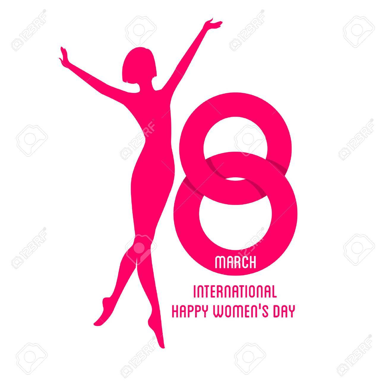 Vector illustration of Happy Women Day background - 36889751