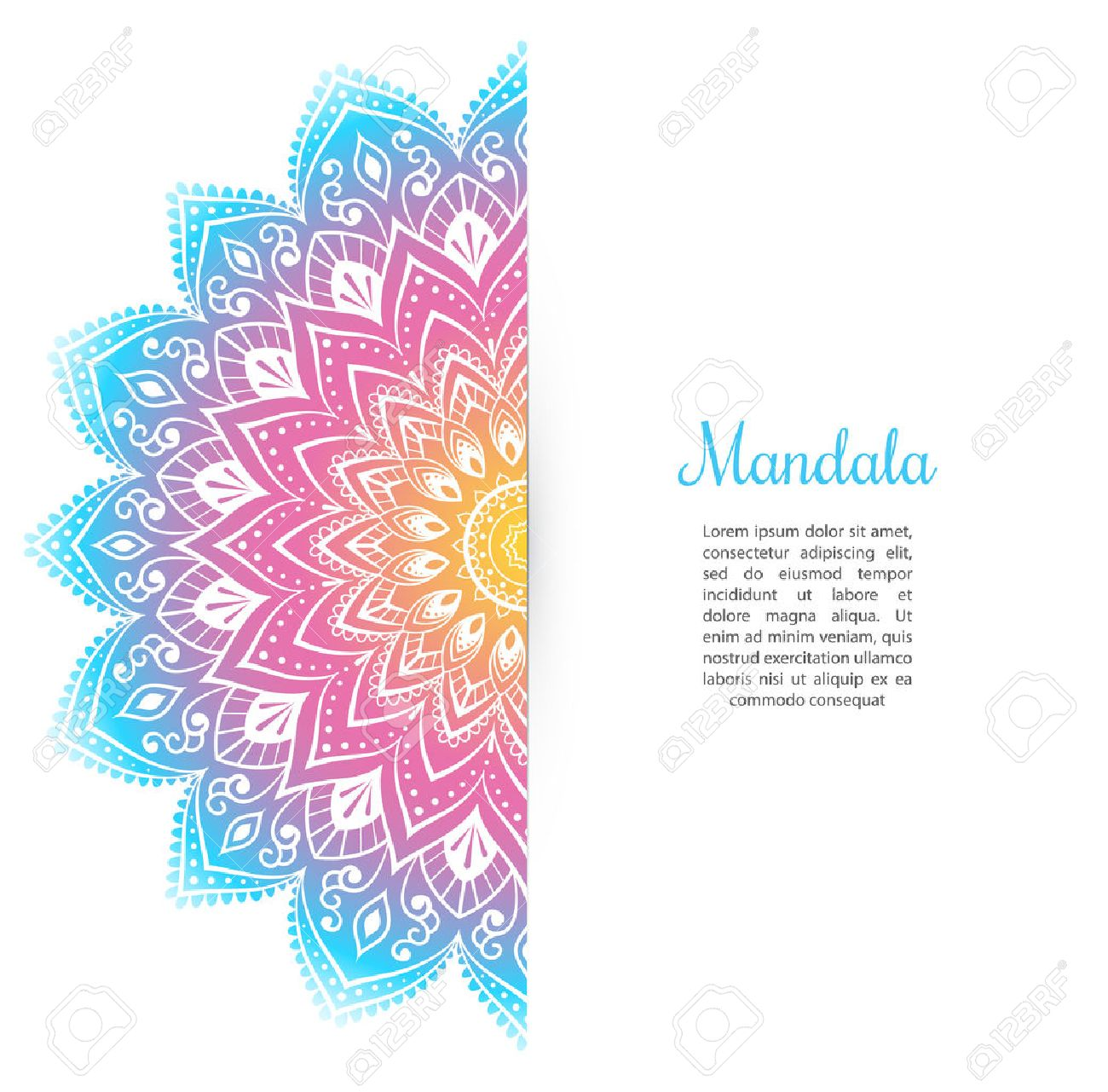 Vector illustration of Color Mandala background template - 44081241